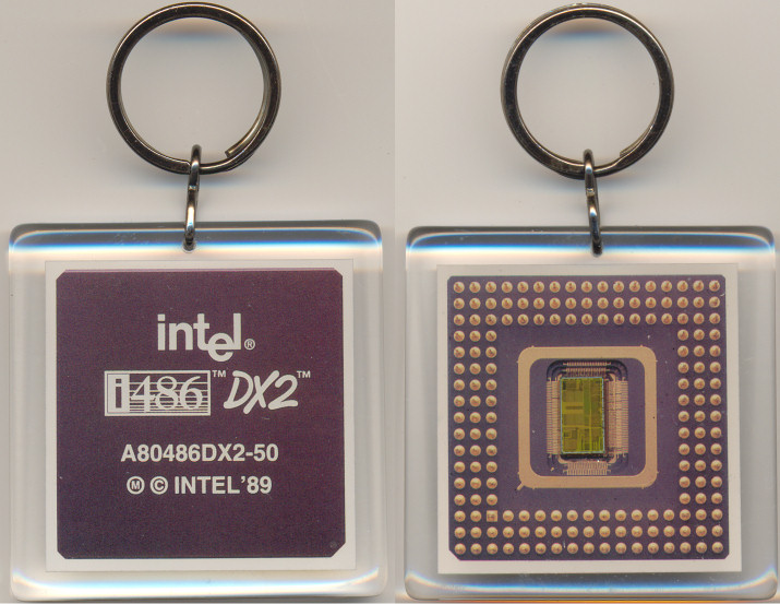 Intel keychain 486DX2-50