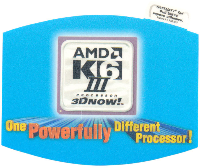 "AMD mousepad K6-3 ""One powerfully different processor"""
