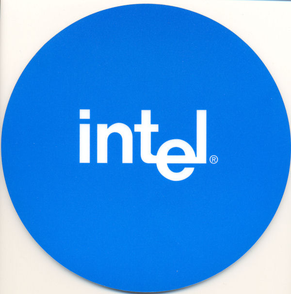 intel mousepad blue 8""