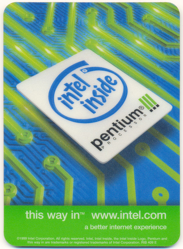 intel mousepad P3 'This way in'