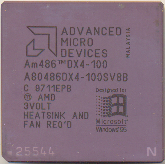 AMD A80486DX4-100SV8B Laser engraved