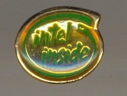 Intel Pin Intel inside green