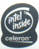 Intel case sticker 'Celeron' black
