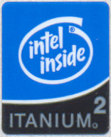 Intel case sticker 'Itanium2'