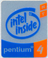 Intel case sticker 'P4 HT'