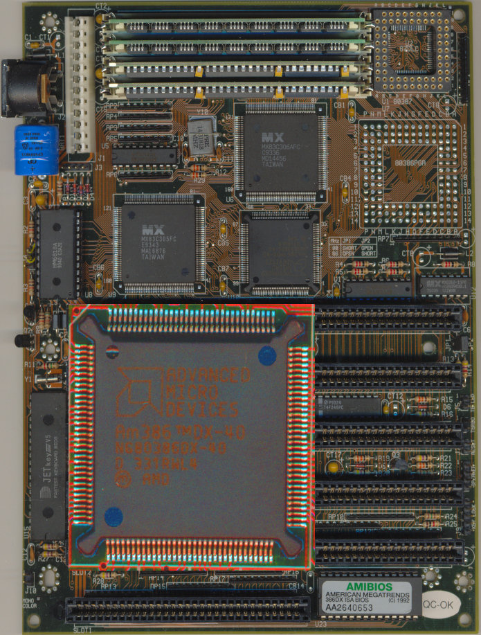 Am386dx40 on motherboard