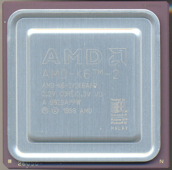 AMD K6-2/266AFR Engraved