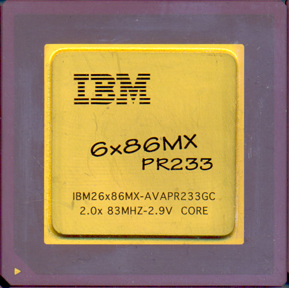 IBM 6x86MX PR233 AVAPR233GC 83 MHz bus