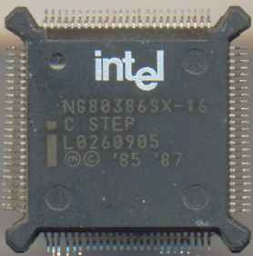 Intel NG80386SX-16 'C step'