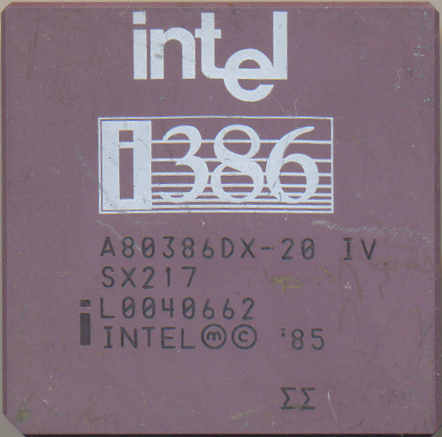 Intel A80386DX-20 IV SX217 'Double sigma'