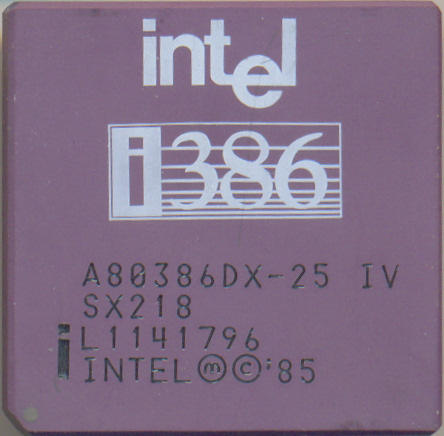 Intel A80386DX-25 IV SX218