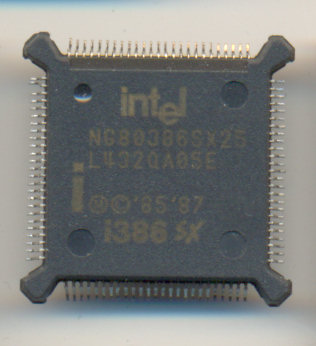 Intel NG80386SX25 BROWN