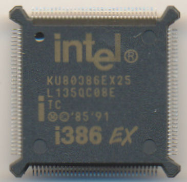 Intel KU80386EX25 'TC' 'Brown print'