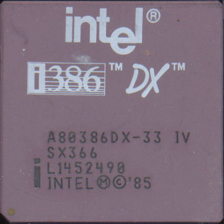Intel A80386DX-33 IV SX366
