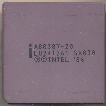 Intel A80387-20 no logo