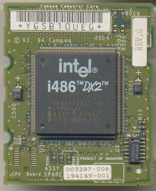 Intel SB80486DX2-40 SX809