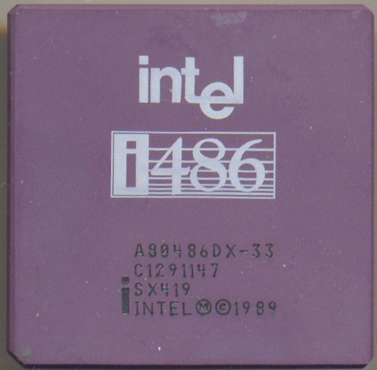 Intel A80486DX-33 SX419 'Old logo'