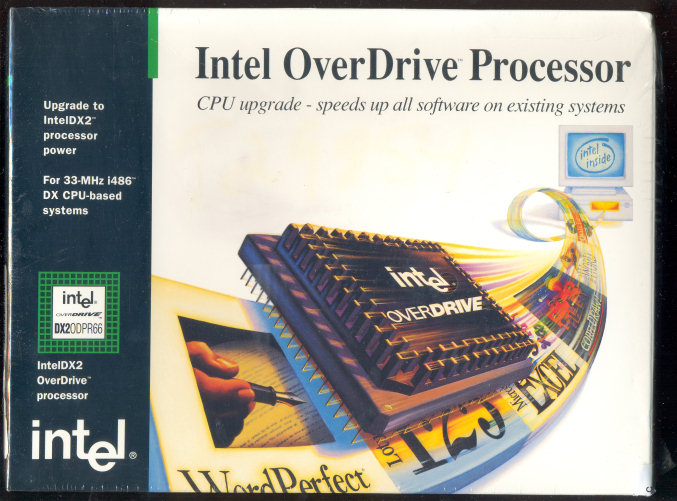 Intel 486 DX2ODPR66 in sealed box