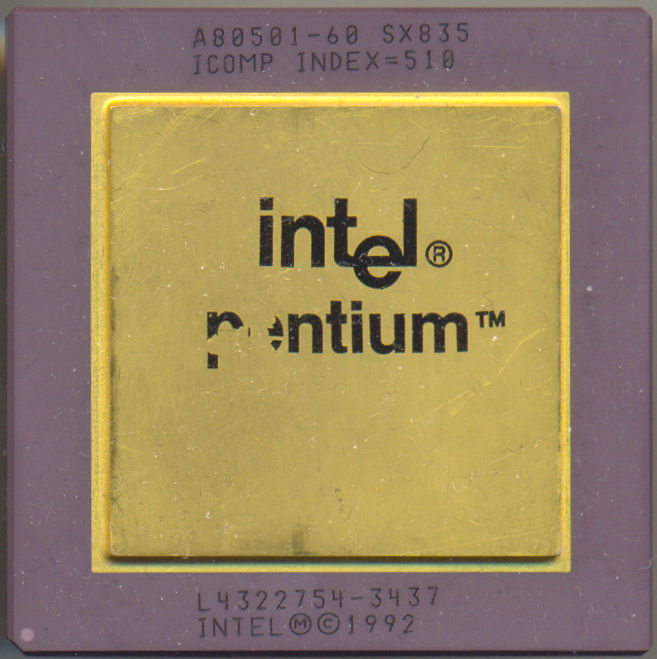 Intel A80501-60 SX835 'No Processor logo'