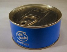 Intel Inside Pentium can of PostIT notes (unopened)