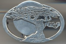 Intel belt buckle Intel Monterey 1977