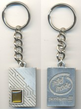 Intel silver keychain PIII with chip die 2