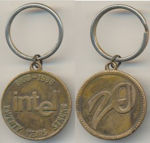 Keychain Intel 1968-1988 twenty years stronger