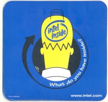 Intel mousepad Intel inside Homer Simpson