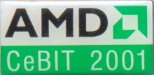 AMD pin 'Cebit 2001'