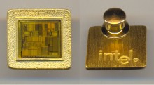 Intel pin with chip
