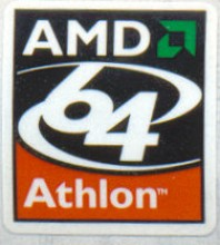 AMD case sticker 'Athlon 64'