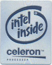 Intel case sticker  'Intel celeron' metal