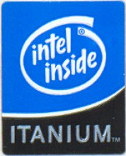 Intel case sticker 'Itanium'