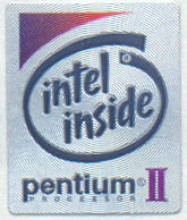 Intel case sticker 'P2'