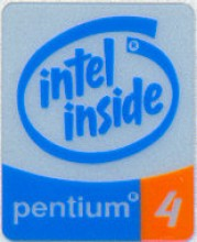 Intel case sticker 'P4'