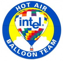 "Intel sticker ""Intel hot air balloon team"""