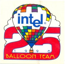 Sticker Intel 1996 Baloon team