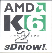AMD sticker 'K6-2 3DNOW' 10x10 cm