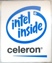 Intel sticker 'Celeron' 10x8 cm