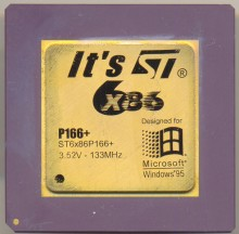 ST ST6X86P166+ 'It´s ST' logo