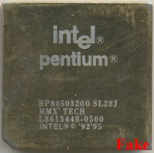 FAKE Intel BP80503200 SL28J