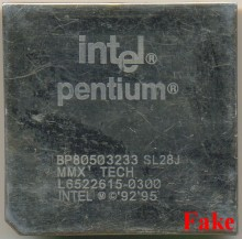 FAKE Intel BP80503233 SL28J