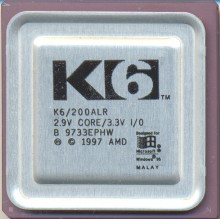 AMD K6/200ALR BIG LOGO