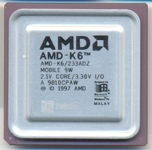 AMD AMD-K6/233ADZ MOBILE 9W