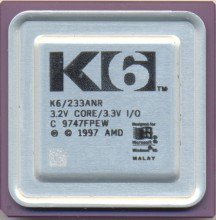 AMD K6/233ANR 'Big logo'