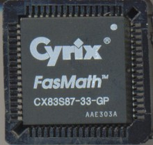 Cyrix CX83S87-33-GP