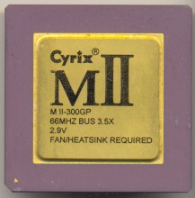 Cyrix MII-300GP Goldtop 66 MHz bus