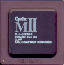 Cyrix MII-333GP 'Blacktop'