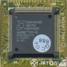 AMD NG80386DX-40 on PCB