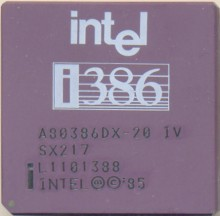 Intel A80386DX-20 IV SX217
